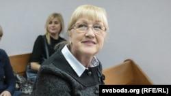 Ганна Бахціна перад пачаткам судовага пасяджэньня