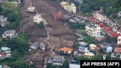 Ճապոնիա - Սողանքից տուժած Ատամի ավանը, Շիզուոկայի շրջան, 5-ը հուլիսի, 2021թ.