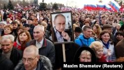 Во время визита в Севастополь президента России Владимира Путина, 14 марта 2018 года