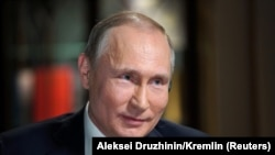 Vladimir Putin during the interview in which he made the remarks.