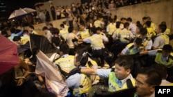 Беспорядки в Гонконге, 15 октября 2014