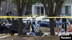 Расследование на месте стрельбы в Техасе