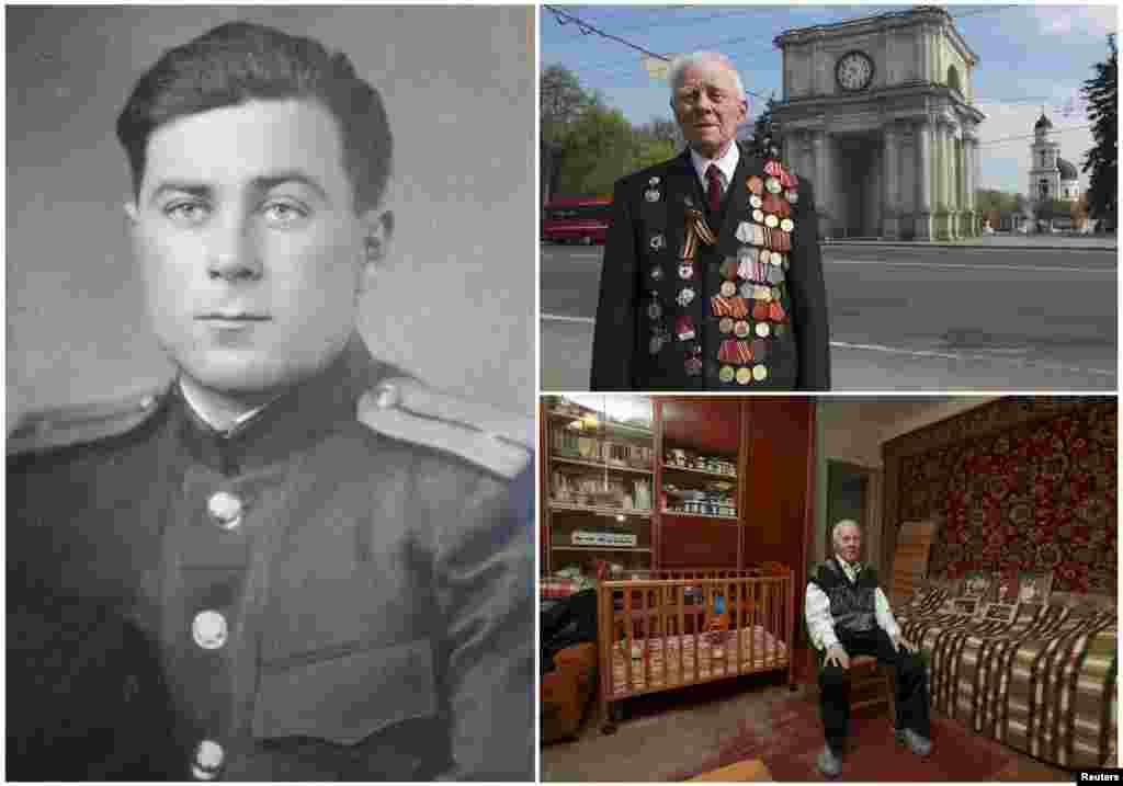 Георгий Парул, 90 лет. Моладванин, служил в Красной Армии в пехоте с декабря 1943 по май 1945 года. День Победы встретил в Болгарии.