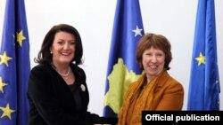 Atifete Jahjaga i Catherine Ashton