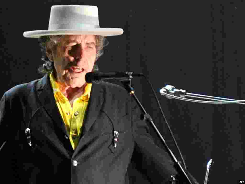 Dylan performs in Beijing on April 6, 2011.