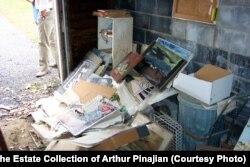 Pinajian-ın yaşadığı evin qarajı