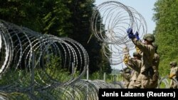 Lithuania has recently increased security at its border with Belarus.