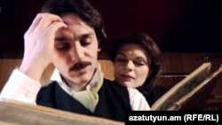 "Screengrab from the Armenian Service's movie on poet Vahan Teryan, ""The Last Journey"""