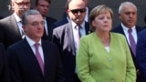 Merkel Visits Genocide Memorial In Armenia