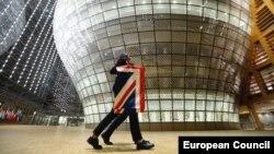 Skidanje zastave Ujedinjenog Kraljevstva u Briselu