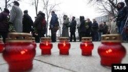 Борис Немцов менен коштошуу, Москва, 3-март, 2015.