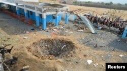 بیمارستانی در استان حجه یمن که در سال ۲۰۱۶ بمباران شد.