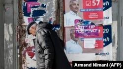 Plakati sa likom Olivera Ivanovića u Severnoj Mitrovici februara 2018. godine, arhivska fotografija