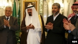 رهبران حماس و فتح در مکه و با حضور ملک عبدالله «بیانیه مکه» را امضا کردند