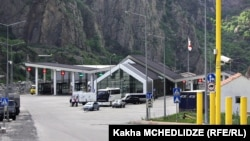 Georgia -- The Upper Lars border crossing with Russia, 30May2015.