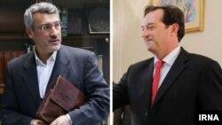 نیکلاس هاپتون و حمید بعیدینژاد سفیران ایران و بریتانیا