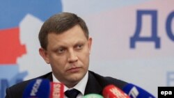 """Өзін-өзі жариялап алған """"Донецк халық республикасының"""" жетекшісі Александр Захарченко."""