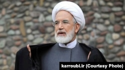 Former reformist parliament speaker and presidential candidate Mehdi Karrubi seen in a 2008 photo.