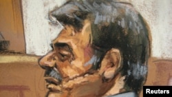 Manssor Arbabsiar in a sketch during an appearance in a New York courtroom