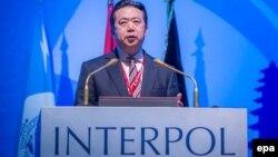Мэн Хунвэй, Интерполдың бұрынғы басшысы.