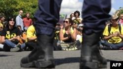 Протести против нуклеарен отпад, 2010