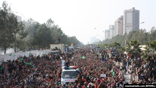 In mid-January, some 50,000 people took to the streets of Islamabad for a rally in support of Muhammad Tahir-ul-Qadri.