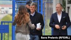 Svetozar Marović ispred zatvora