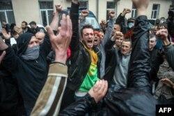 Militanţi pro-ruşi la Odesa, 2 mai