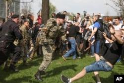 Столкновения на Пушкинской площади, 5 мая 2018 года