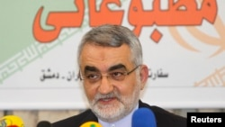 """The chairman of the National Security and Foreign Policy Commission, Alaeddin Boroujerdi, said """"any new decision by the U.S. Congress [to impose sanctions]...will face the Iranian parliament's serious reaction."""""""