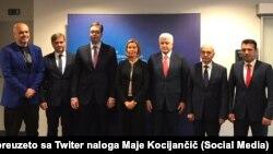 Kryeministrat e gjashtë vendeve të Ballkanit Perëndimor, takohen me Federica Mogherinin në Bruksel