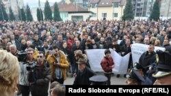 Массовые протесты в Горажде, 10 февраля 2014 года