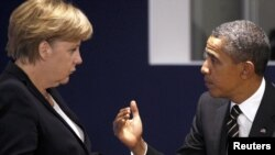 Kancelarja gjermane Angela Merkel dhe presidenti i SHBA-ve Barak Obama