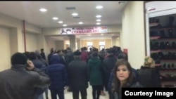 Karvan, shopping center in Sumgait, Azerbaijan, 01.02.2016