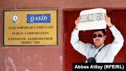 Jurnalistlərin «Qasid» qarşısında aksiyası