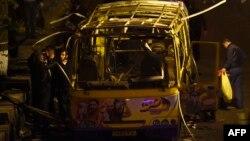 Автобус, взорванный в Ереване