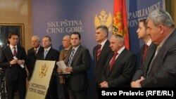 Poslanici i ministri SDP Crne Gore, arhivski snimak