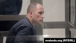 Alyaksandr Asipovich appears in court on May 14.