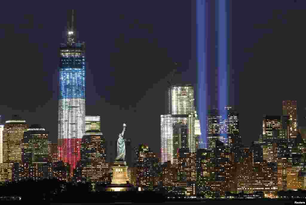 A day before the anniversary, a memorial light display, called The Tribute In Light, illuminates the night sky in New York.