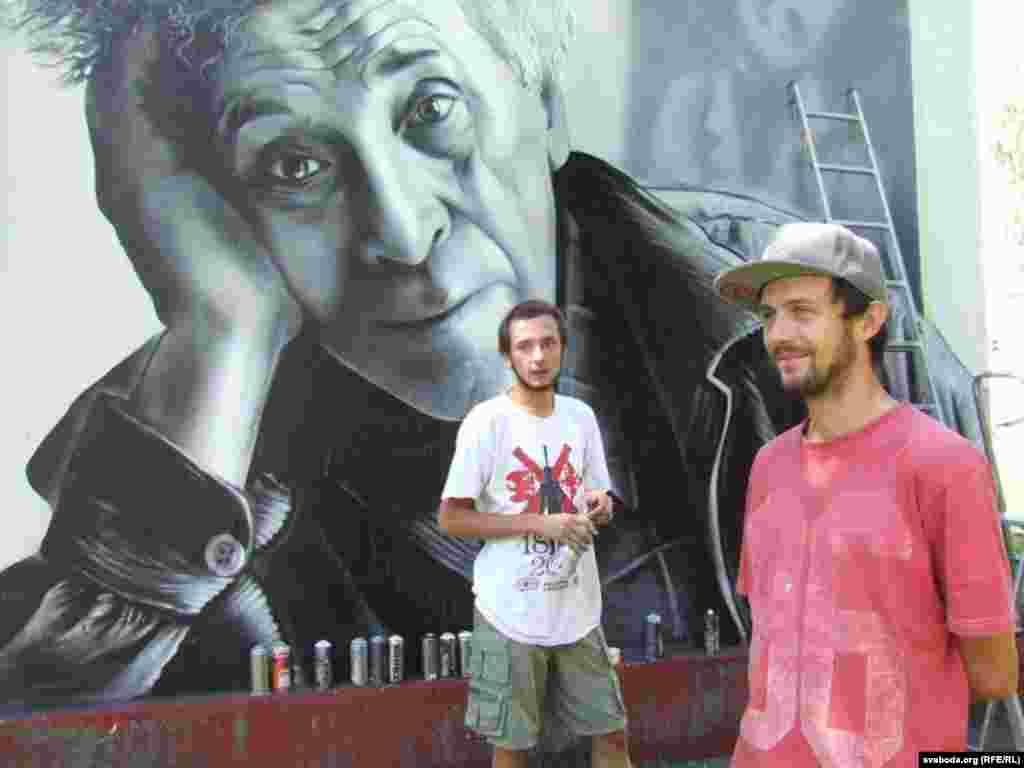 Графіцісты падаравалі Віцебску партрэт Марка Шагала.