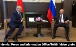 Аляксандар Лукашэнка і Ўладзімір Пуцін,Сочы, 14 верасьня 2020