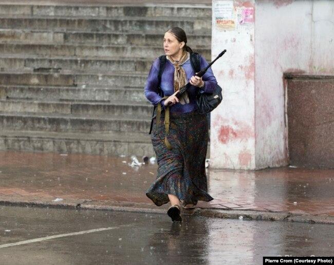 Ольга Кулыгина из Москвы принимает участие в военных действиях в Славянске