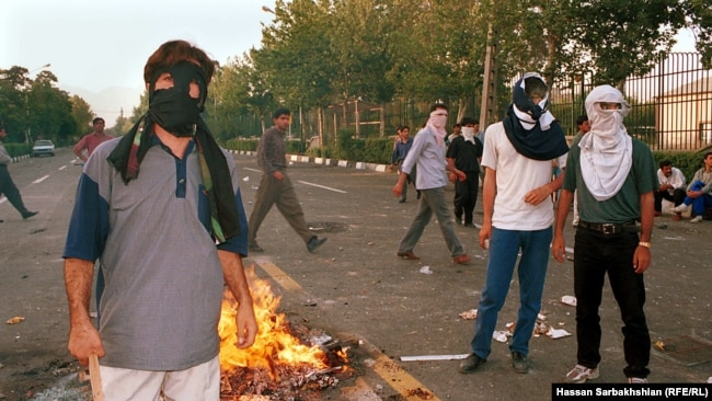 Iranian Student protests of July 1999. In one the most widespread and violent public protests to occur in Iran since the Iranian Revolution, at least 4 people were killed and 200 injured.