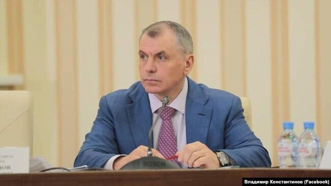 Владимир Константинов на заседании российского правительства Крыма, 13 мая 2020 года