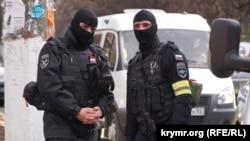 Российские силовики в Симферополе, 23 ноября 2017 года