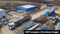 """Строящийся мусороперерабатывающий завод """"Благ-Эко""""."""