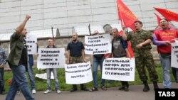 Ռուսաստան - «Ռոդինա» կուսակցության կողմնակիցների ցույցը ի պաշտպանություն ապօրինի միգրանտների ճամբարների, Մոսկվա, 15-ը օգոստոսի, 2013թ․