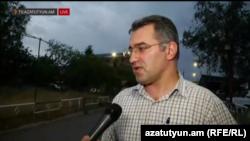 Армен Мартиросян дает интервью Радио Азатутюн сразу после выхода из-под стражи, Ереван, 17 августа 2016 гթ․