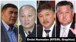 Политики, отсидевшие тюремные сроки за разные преступления: Камчыбек Ташиев, Нариман Тюлеев, Ахматбек Келдибеков и Бектур Асанов.