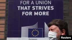 Selia e Komisionit Evropian në Bruksel. Prill, 2020.